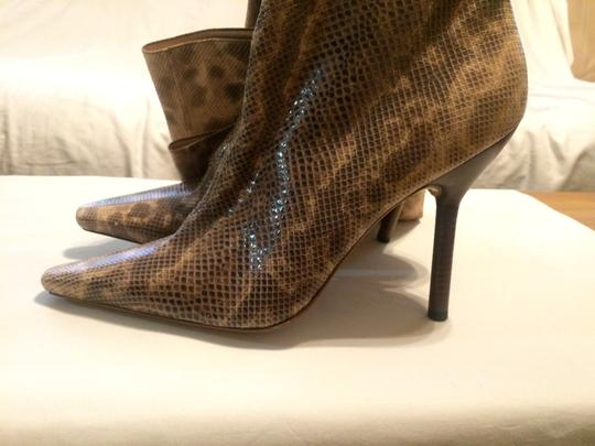 Gucci Snakeskin Tom Ford Thigh High High Heel New Multi-color Boots