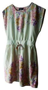 dotti short dress Floral/ivory Floral Polyester on Tradesy