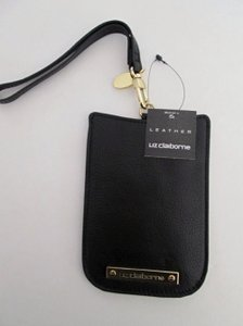 Liz Claiborne NWT Women's Grace Leather Cell Phone Pouch Black by Liz Claiborne
