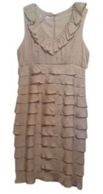 Preload https://item4.tradesy.com/images/london-times-silvergrey-shimmer-tiered-mini-cocktail-dress-size-12-l-6008-0-0.jpg?width=400&height=650
