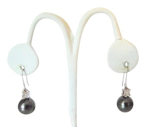 Pearlfection Pearlfection Faux Black South Sea Pierced Pearl Earrings