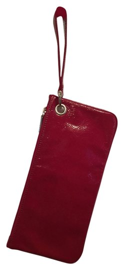 Hobo International Wristlet in Red Patent Leather