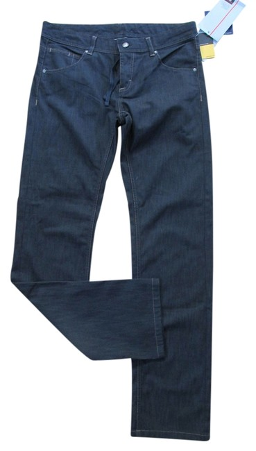 Athletica Straight Leg Jeans-Dark Rinse