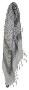 Anthropologie Anthropologie Raj Floral Lurex Grey/Griss One Size Scarf NWT