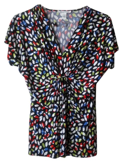 Kenneth Cole Colorful Career Night Out Top Red blue yellow multi