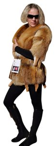 Jean Crisan Basic Stylish Jacket Fur Coat