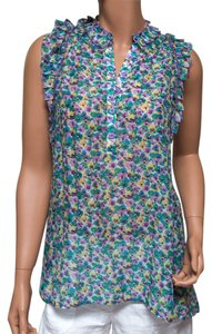 BCBGMAXAZRIA Floral Buttondown Soft Top multicolor