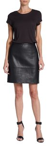 French Connection Jet Faux Leather Skirt Black