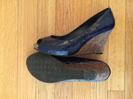 Lilly Pulitzer Preppy Nautical Summer Spring Lily Leather Cute navy Wedges