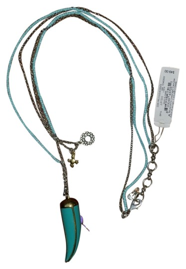 Preload https://item4.tradesy.com/images/lucky-brand-lucky-brand-teal-blow-horn-boho-turquoise-blue-layered-long-charm-necklace-6010378-0-1.jpg?width=440&height=440