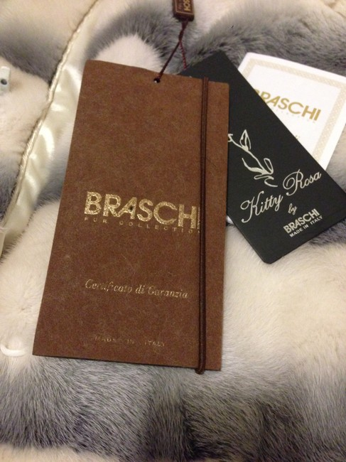 BRASCHI Real Mink Pattern: Striped Material: Silk Blend Made In Italy Fur Coat