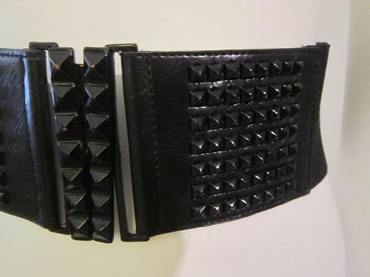 Other Black Studded Elastic Waist Belt