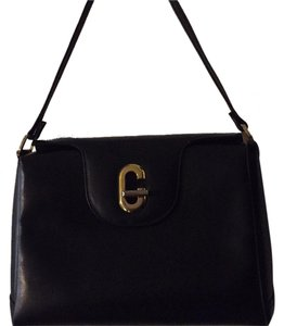 Gucci Vintage Crest Satchel in Black