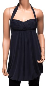 BCBGMAXAZRIA Bubble Hem Black Halter Top