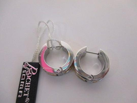 Other Rochet Bijoux Silver Techno Gold Cable Design Hinged Hoop Earrings