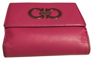 Salvatore Ferragamo Ferragamo Saffiano Leather Mini Flap Wallet