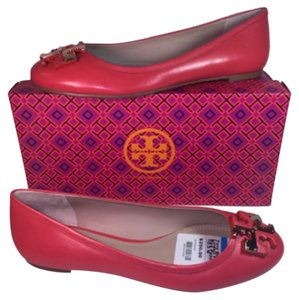 Tory Burch Lowell Red Logo Icon Logo Red Pepper Flats