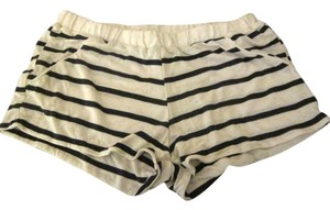 LNA Black, White Shorts
