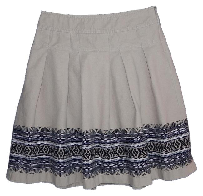 Ann Taylor LOFT Cotton Machine Washable Skirt tan
