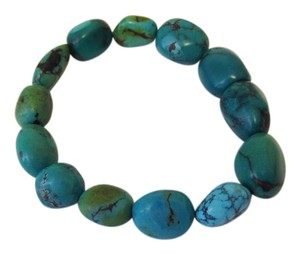 Mine Finds by Jay King Jay King Chunky Hubei Turquoise Magnetic Closure Bracelet 8 Inch