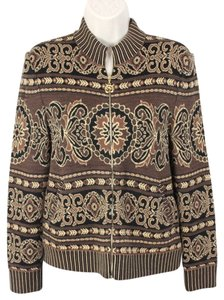 St. John Flora Zip Cardigan Sweater