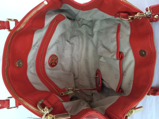 Tory Burch Amanda Double Zip Tote in Flame Red