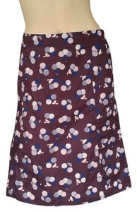 Marni Lightweight Circles Skirt Brown