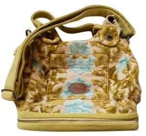Petunia Pickle Bottom Tote Velvet Floral Chartreuse Diaper Bag