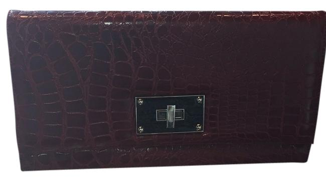 Item - Red Faux Leather Clutch