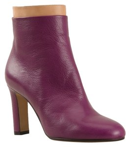 Maison Margiela Leather Fall Winter Ankle Purple Boots