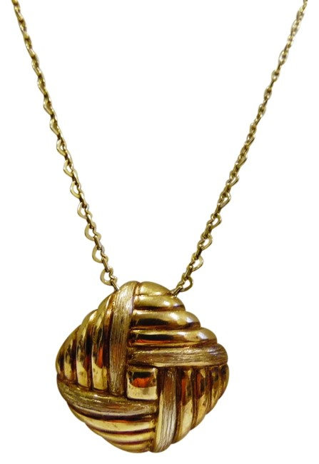 Item - .925/18k Clad .925/18k Plated Pendant/Slide with 18 Inch Chain Necklace