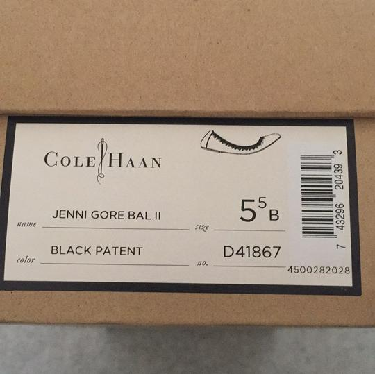 Cole Haan Leather Ballet Blac Flats