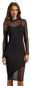 Donna Mizani Mesh Bodycon Sheer Dress
