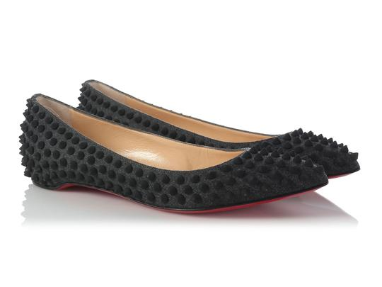 Christian Louboutin Flannel Pigalle Lb.j0701.16 Spikes Flats