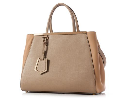 Fendi Fi.j0707.10 Saffiano Leather Tan Tote