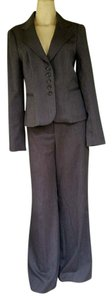 The Limited THE LIMITED Gray Striped Pantsuit Suit Pants 6/8