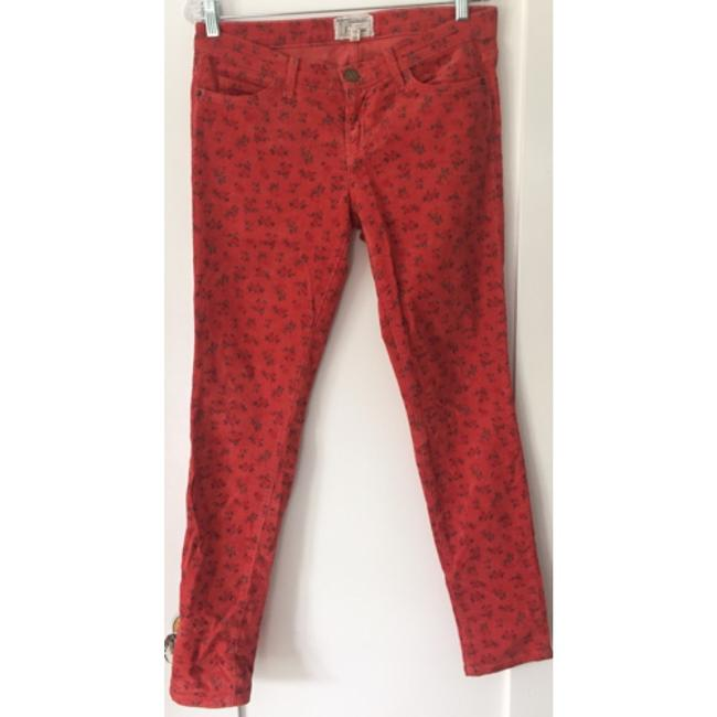 Current/Elliott Straight Pants Red