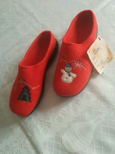 FARGEOT Wool FARGEOT Made in Confort Red Mules