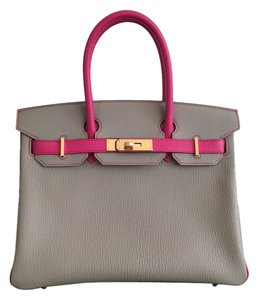 Hermès Birkin 30cm Chevre Leather Tote in Gris Tourterelle