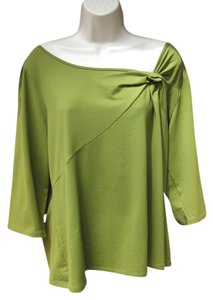 INC International Concepts Stretch 3/4 Sleeve T Shirt Green
