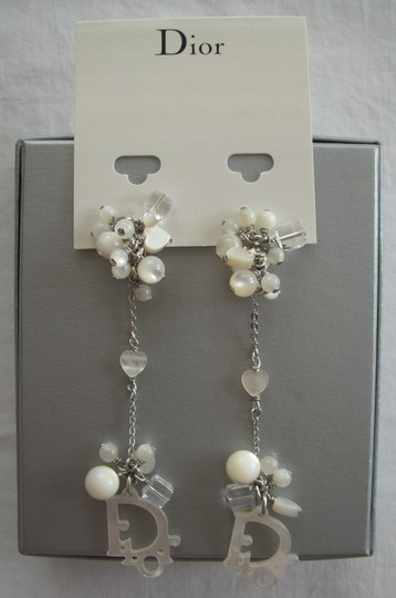 Dior Dior Mother of Pearl Cluster Drop Earrings, Clip-on