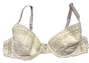 DKNY DKNY Cream Beige Lace Contour Bra 36B Lightly Padded Underwire