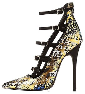 Privileged Metallic Heels Gold Multi Pumps
