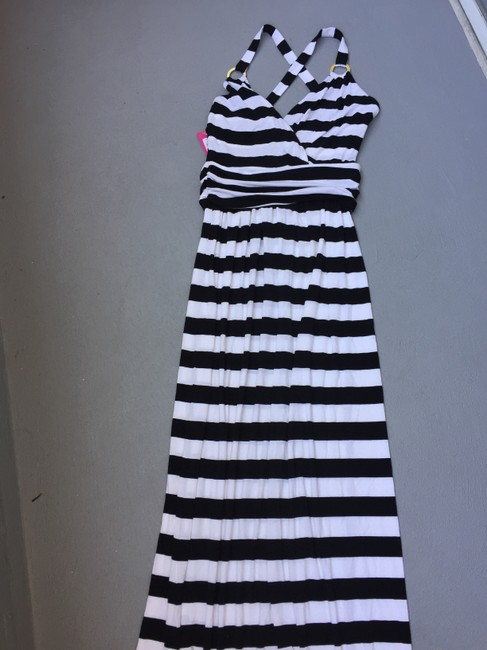 Black and White stripe Maxi Dress by Vince Camuto