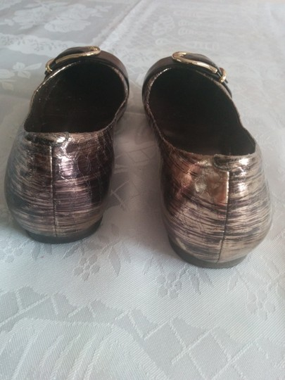 Cole Haan Leather Bronze Flats