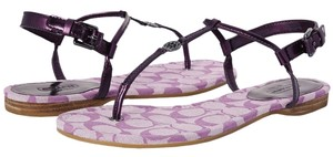 Coach Flat LIlac/Metallic Sandals