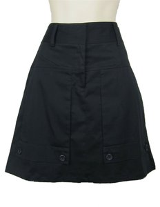 Theory Pockets Big Buttons 60's Mod Mini Skirt black