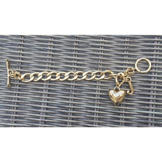 Juicy Couture Gold heart toggle bracelet