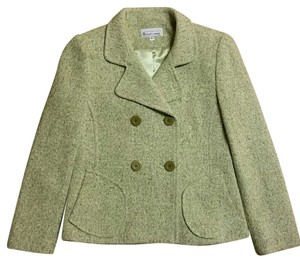 Elliott Lauren Green and Cream Blazer