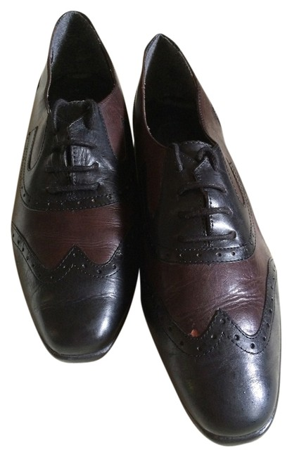Item - Brown Black Wing Tip Loafers Sz. Flats Size US 9